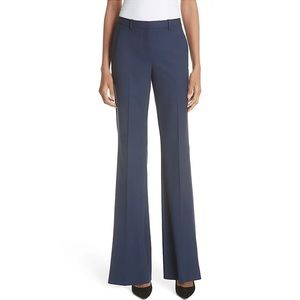 Theory High Waisted Blue Grey Wide Leg Trousers